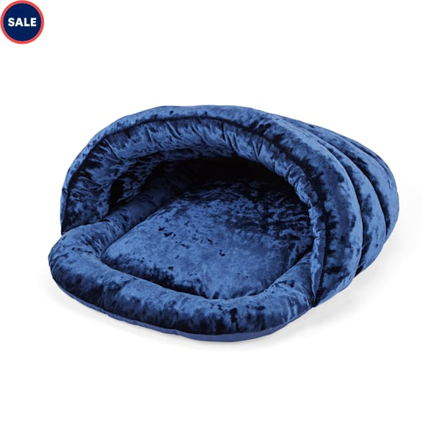 """EveryYay Snooze Fest Midnight Blue Play Cave Cat Bed, 18"""" L X 15"""" W X 12"""" H - Carousel image #1"""