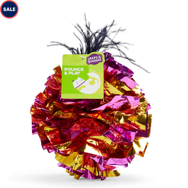 Leaps & Bounds Mylar Ball with Feathers Cat Toy - Carousel image #1