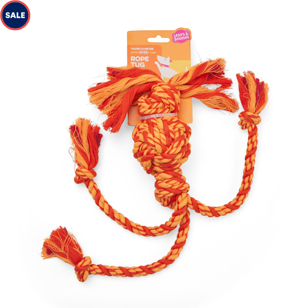 Leaps & Bounds Red & Multicolor Rope Dog Toy, X-Large - Carousel image #1