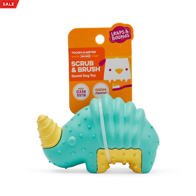 Leaps & Bounds Blue Rhino Dental Dog Chew Toy, Small - Carousel image #1