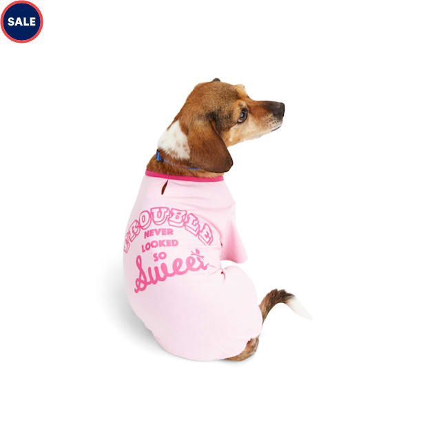 YOULY The Diva Pink Trouble Never Looked So Sweet Dog Pajamas, XX-Small - Carousel image #1
