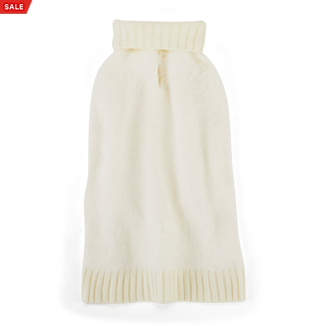 YOULY The Heir Ivory Fuzzy Dog Sweater, XX-Small - Carousel image #1