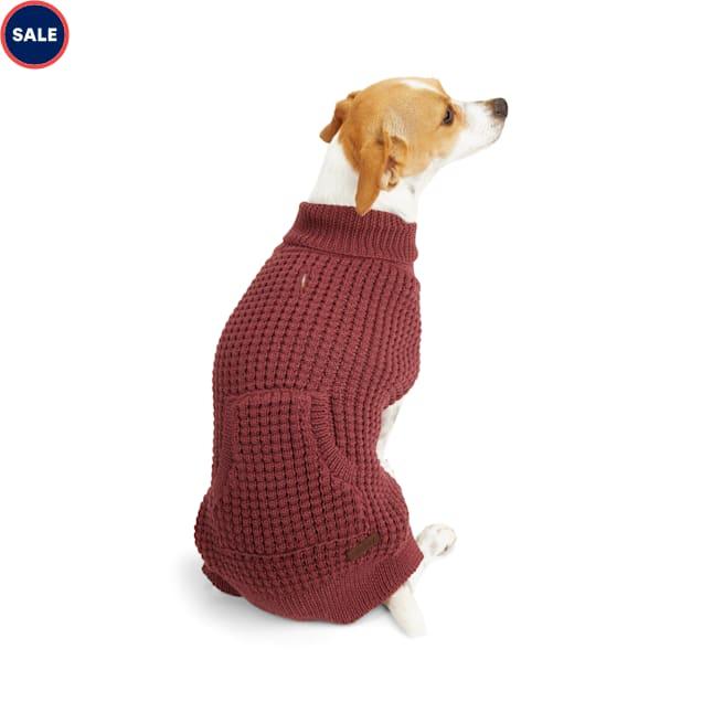 Reddy Burgundy Dog Sweater, X-Small - Carousel image #1