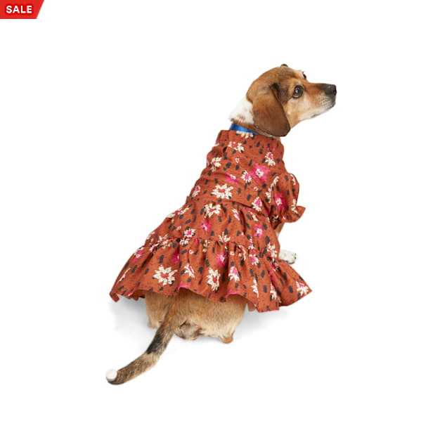 YOULY The Party Animal Leopard & Floral Dog Dress, XX-Small - Carousel image #1