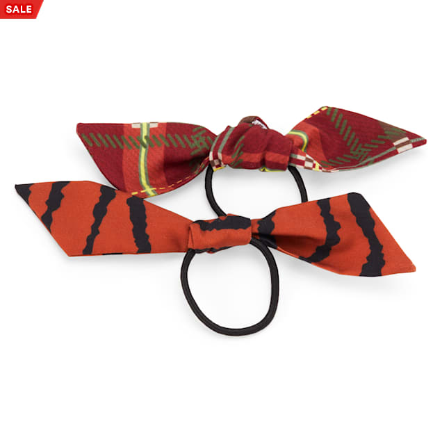 YOULY The Party Animal Mixed-Print Safari-Inspired Hair Bows for Dogs, Pack of 2 - Carousel image #1