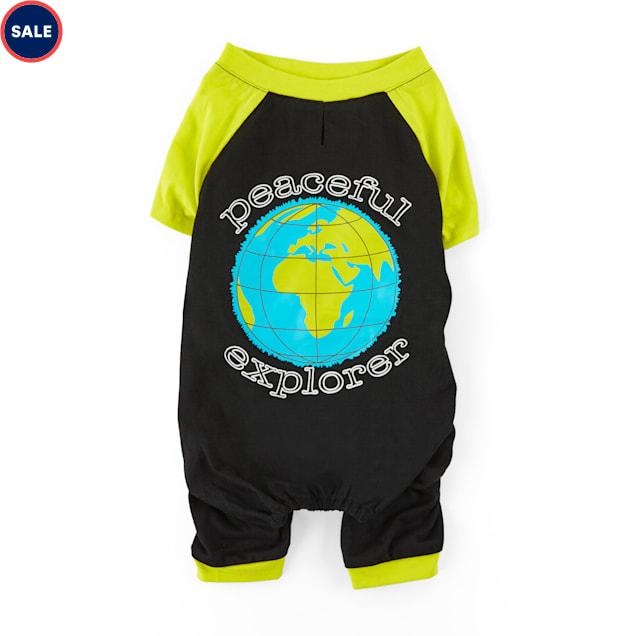 YOULY Happy-Go-Lucky Black & Yellow Peaceful Explorer Dog Pajamas, XX-Small - Carousel image #1