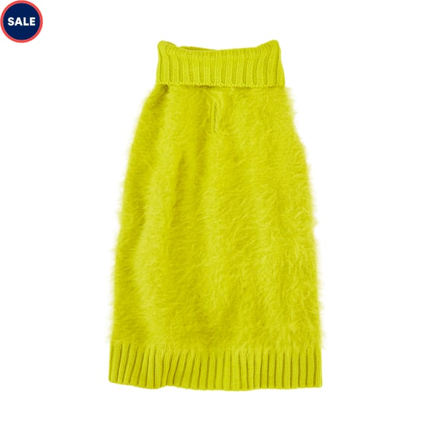 YOULY The Heir Yellow Fuzzy Dog Sweater, XX-Small - Carousel image #1