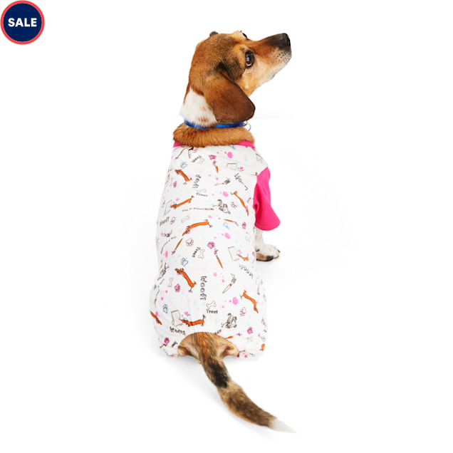 YOULY The Artist Pink Printed Dog Pajamas, XX-Small - Carousel image #1
