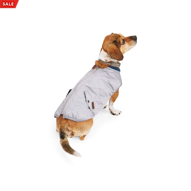 Reddy PrimaLoft Insulated Grey Quilted Dog Vest, X-Small - Carousel image #1