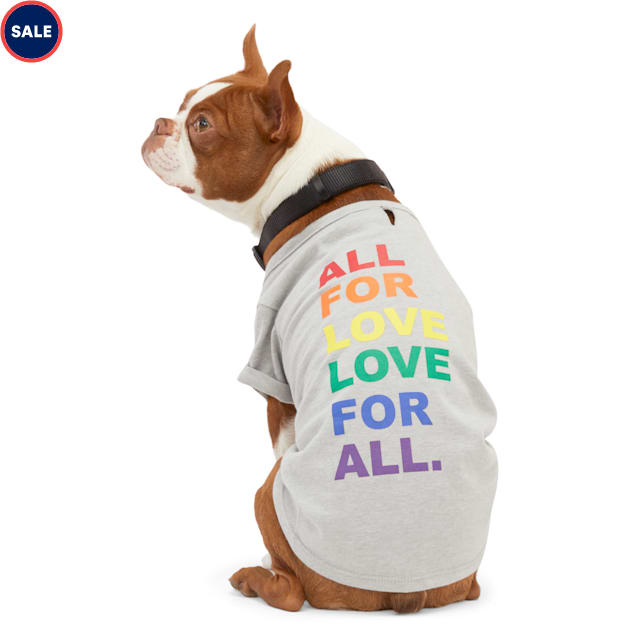YOULY The Proudest Rainbow All For Love Love For All Dog Graphic T-Shirt, XX-Small - Carousel image #1