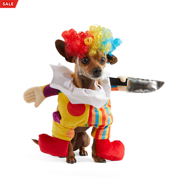 Bootique Ghost Town Clown Pet Illusion Costume, XX-Small - Carousel image #1