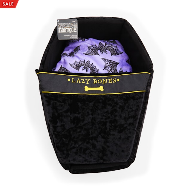 """Bootique Vampire's Snooze Coffin Pet Bed, 18"""" L X 14"""" W X 7"""" H - Carousel image #1"""