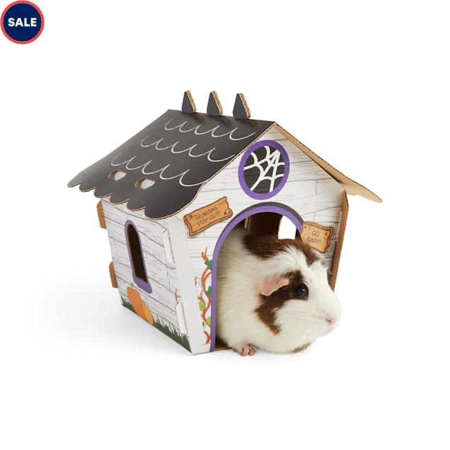 Bootique The Haunting At Nibbleton Residence Chewable Guinea Pig House - Carousel image #1