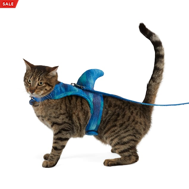 Bootique Land Shark Cat Harness Costume - Carousel image #1