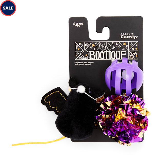 Bootique Bratty Batty Cat Toys, Pack of 3 - Carousel image #1