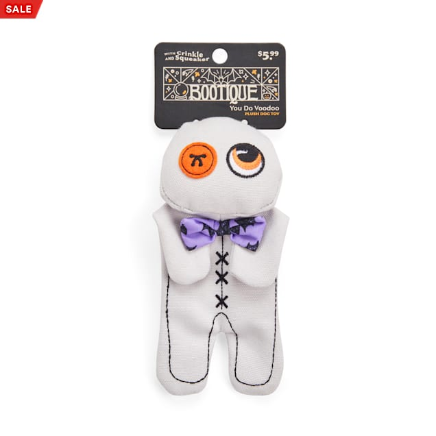 Bootique You Do Voodoo Doll Flattie Plush Dog Toy, Small - Carousel image #1