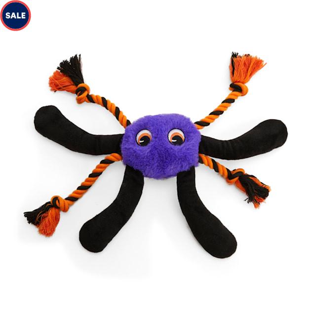 Bootique Creepy Crawly Spider Plush & Rope Dog Toy, Large - Carousel image #1