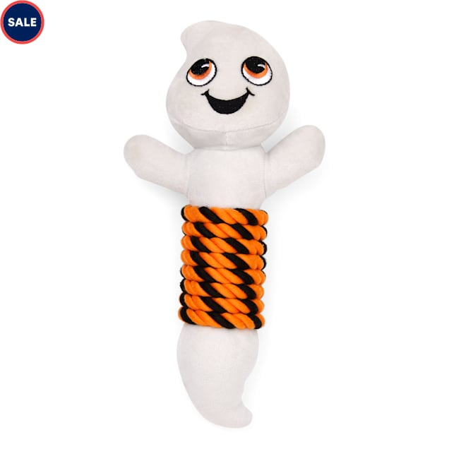 Bootique Boo Hoo Hoo Ghost Plush & Rope Dog Toy, Large - Carousel image #1