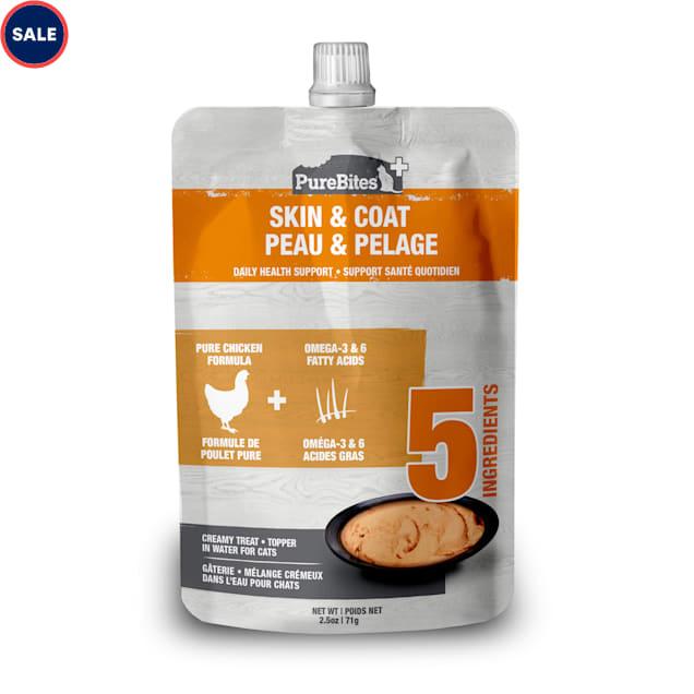 Pure Bites Squeezable Skin & Coat Creamy Cat Treats, 2.5 oz. - Carousel image #1
