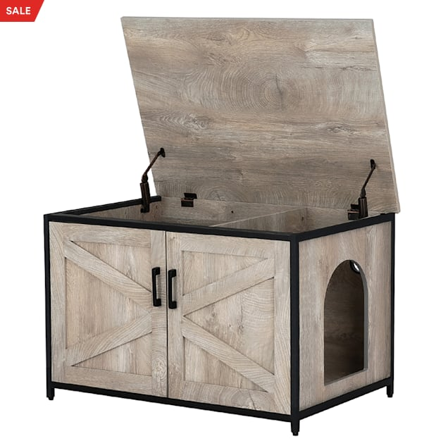 """UniPaws Cat Litter Box Enclosure with Top Opening, 31.5"""" L X 21.7"""" W X 21.7"""" H - Carousel image #1"""