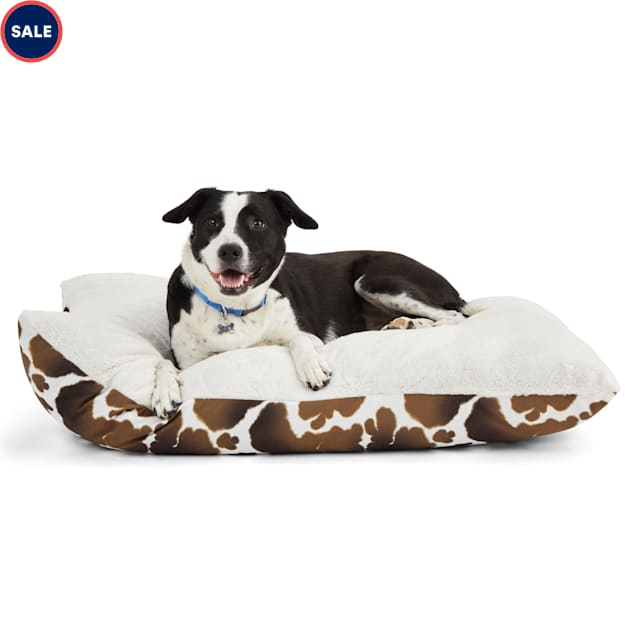 """EveryYay Essentials Snooze Fest Cow-Print Lounger Dog Bed, 30"""" L X 40"""" W X 4"""" H - Carousel image #1"""