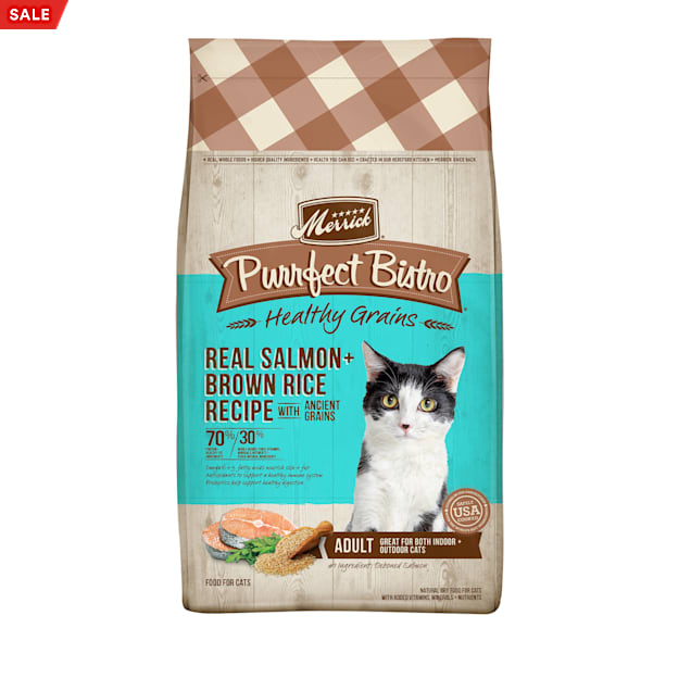 Merrick Purrfect Bistro Healthy Grains Real Salmon + Brown Rice Recipe with Ancient Grains Dry Cat Food, 12 lbs. - Carousel image #1
