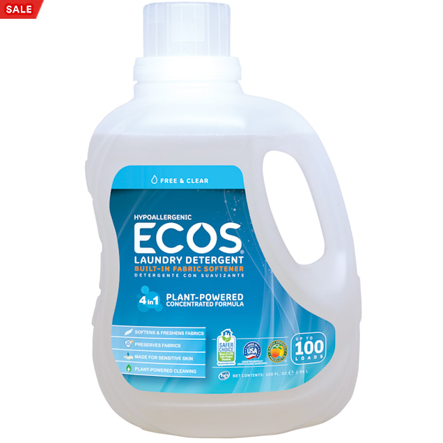 ECOS Free & Clear Hypoallergenic Liquid Laundry Detergent with Built-In Fabric Softener - Carousel image #1