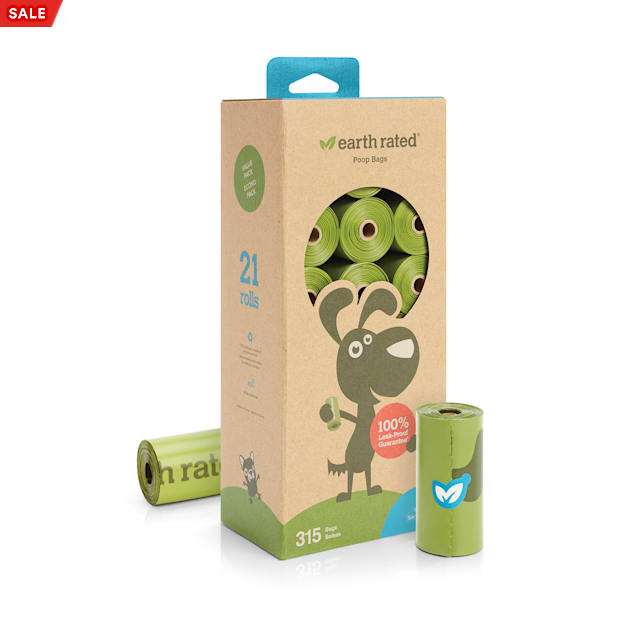 Earth Rated Unscented Refill Roll Waste Bags for Pets, Count of 315 - Carousel image #1