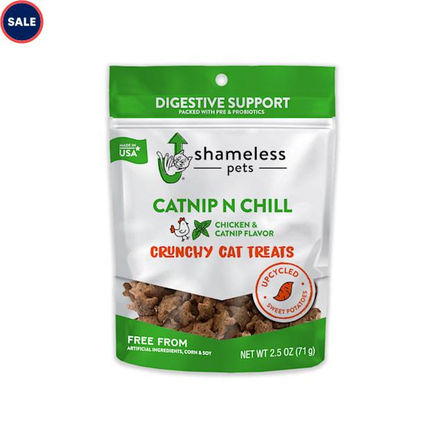 Shameless Pet Treats Catnip N Chill Crunchy Cat Treats, 2.5 oz. - Carousel image #1