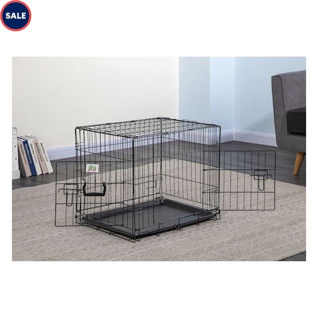 "Go Pet Club Black Foldable Metal Dog Crate, 19"" L X 12.75"" W X 16"" H - Carousel image #1"