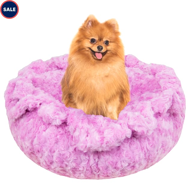 """Bessie and Barnie Ultra Plush Cotton Candy Luxury Deluxe Pet Cuddle Pod Bed, 30"""" L X 30"""" W X 5"""" H - Carousel image #1"""