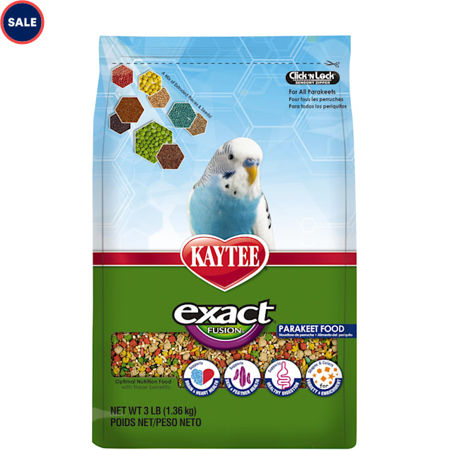 Kaytee Exact Fusion Optimal Nutrition Diet for Parakeets, 3lbs. - Carousel image #1