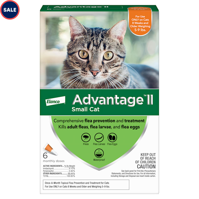 Advantage Ii Once A Month Cat Kitten Topical Flea Treatment 5 To 9 Lbs Pack Of 6 Petco