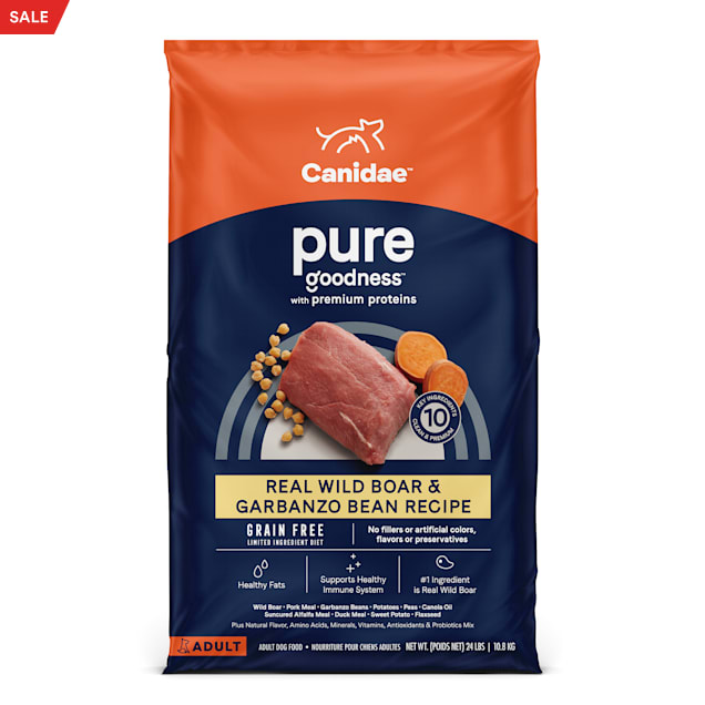 CANIDAE PURE Real Wild Boar & Garbanzo Bean, Limited Ingredient, Grain Free Recipe Dry Dog Food, 24 lbs. - Carousel image #1