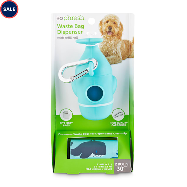 So Phresh Whale-Shaped Dog Waste Bag Dispenser with Refill Rolls - Carousel image #1