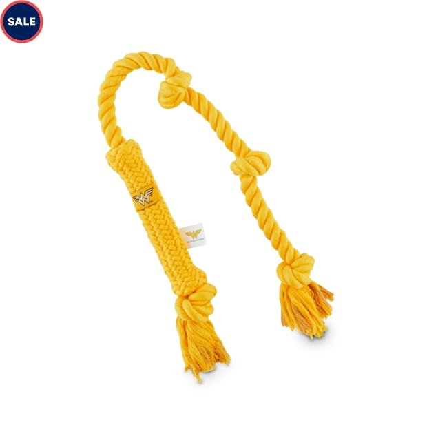 DC Comics Justice League Wonder Woman Lasso Of Truth Rope Dog Toy, Medium - Carousel image #1