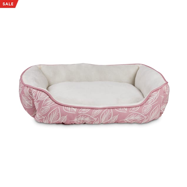 """EveryYay Essentials Snooze Fest Pink Rectangle Nester Dog Bed, 24"""" L X 18"""" W X 7"""" H - Carousel image #1"""