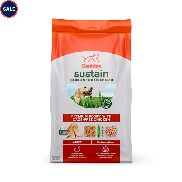 Canidae Sustain Premium Recipe with Cage-Free Chicken Adult Dry Dog Food, 18 lbs. - Carousel image #1