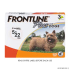 FRONTLINE Plus Flea and Tick Treatment for Small Dogs Upto 5 to 22 lbs., 3 Treatments