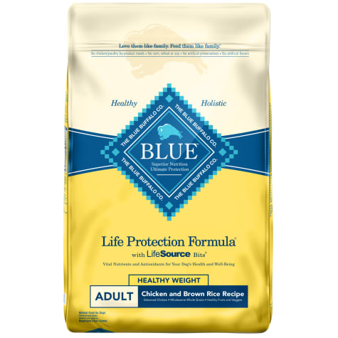 Blue Buffalo Life Protection Formula Natural Adult Healthy Weight Chicken and Brown Rice Dry Dog Food