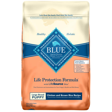 Blue Buffalo Life Protection Formula Natural Puppy Large Breed Chicken and Brown Rice Dry Dog Food