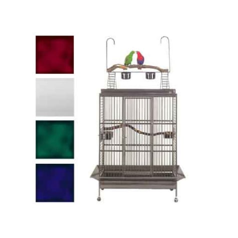 Avian Adventures Grande Playtop Bird Cages in White