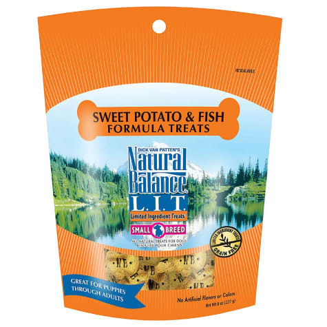 Natural Balance L.I.T. Limited Ingredient Treats Small Breed Sweet Potato & Fish Formula Dog Treats