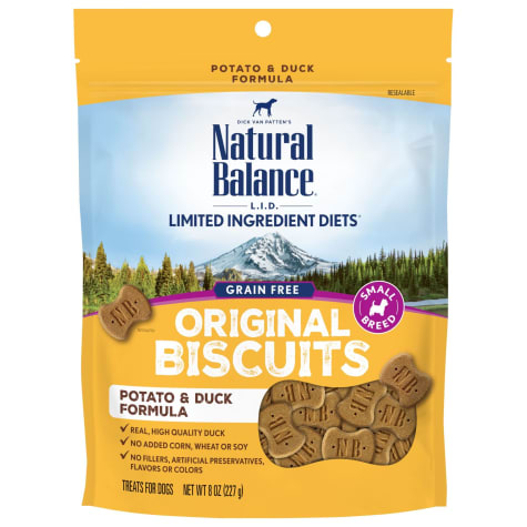 Natural Balance L.I.T. Limited Ingredient Treats Small Breed Potato & Duck Formula Dog Treats