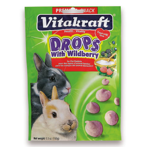 Vitakraft Drops with Wildberry Rabbit Treats