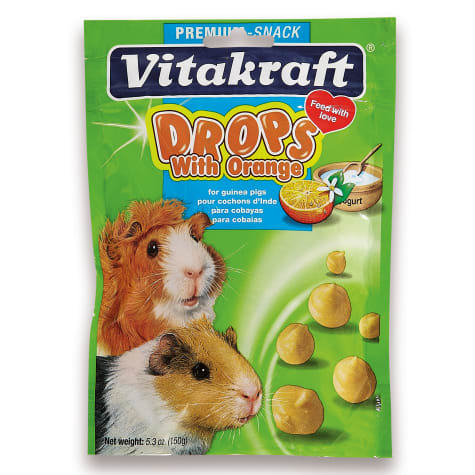 Vitakraft Drops with Orange Guinea Pig Treats