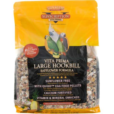 Sun Seed Vita Prima Sunscription Safflower Formula Large Hookbill Food