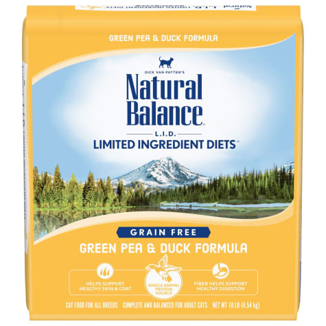Natural Balance L.I.D. Limited Ingredient Diets Green Pea & Duck Formula Dry Cat Food