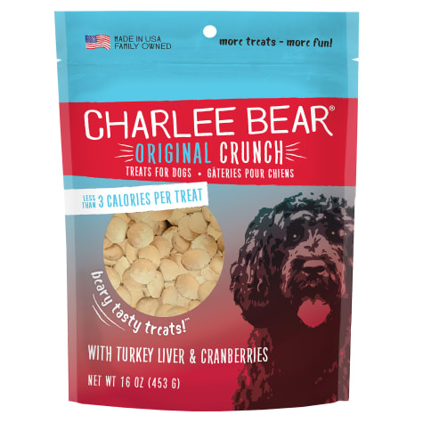 Charlee Bear Dog Treats with Turkey Liver & Cranberries