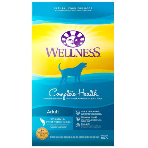 Wellness Complete Health Natural Whitefish & Sweet Potato Recipe Dry Dog Food